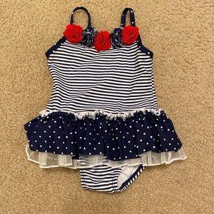 Patriotic Floral Swimsuit